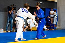 Aleksandra Kowalewska (POL) and Kaja Kajzer at practice of Slovenia Judo Team at Judo Summer Camp Izola 2020, on August 4, 2020 in OS Vojka Smuc, Izola, Slovenia. Photo by Matic Klansek Velej / Sportida