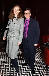 SEBASTIAN CONRAN and GERTRUDE THOME at a party to celebrate the launch of Ladies' Day at The Vodafone Derby Festival held at Frankie's Bar & Grill, 3 Yeomans Row, London SW7 on 19th April 2005.<br />