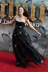 London, May 10th 2017. Ella Hunt attends the European premiere of King Arthur - Legend of the Sword at the Cineworld Empire in Leicester Square.