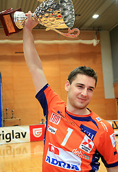 Andrej Flajs at finals of Slovenian volleyball cup between OK ACH Volley and OK Salonit Anhovo Kanal, on December 27, 2008, in Nova Gorica, Slovenia. ACH Volley won 3:2.(Photo by Vid Ponikvar / SportIda).
