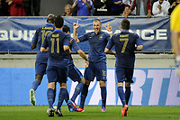FOOTBALL - INTERNATIONAL FRIENDLY GAMES 2011/2012 - FRANCE v ESTONIA  - 5/06/2012 - PHOTO JEAN MARIE HERVIO / REGAMEDIA / DPPI - JOY KARIM BENZEMA (FRA) AFTER HIS GOAL