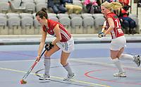 ROTTERDAM -  Dames 2 van Hurley tegen dames 2 van Laren tijdens het Landskampioenschap reserveteam zaal 2013. FOTO KOEN SUYK