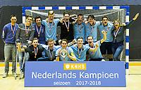 ROTTERDAM - NK Zaalhockey 2018 . finale jongens A Nijmegen-Oranje Rood (4-3)  . Nijmegen landskampioen . COPYRIGHT KOEN SUYK