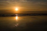 Setting sun at the Oregon Coast.