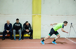 Marko Nikolic, Andrej Kracman, Matic Fink during first training of NK Olimpija Ljubljana before spring season when presented Olimpija's new coach, on January 11, 2016 in ZAK stadium, Ljubljana, Slovenia. Photo by Vid Ponikvar / Sportida