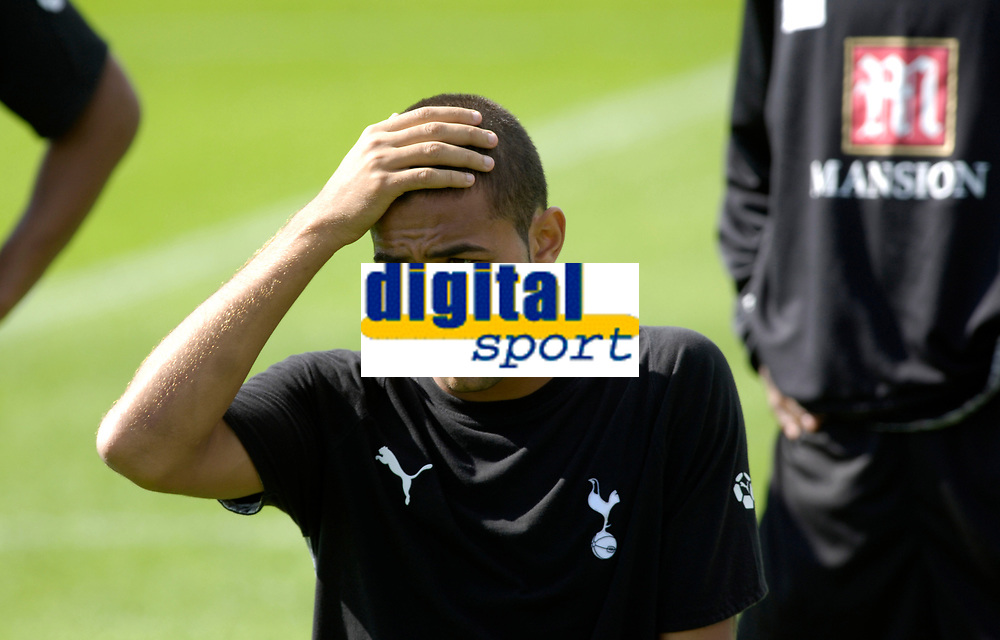 Photo: Daniel Hambury.<br />Tottenham Hotspur training session. 07/09/2006.<br />Spurs' new signing Mido pictured during training.