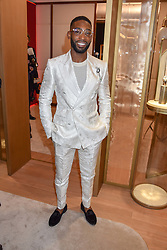 Tinie Tempah at the reopening of the Cartier Boutique, New Bond Street, London, England. 31 January 2019. <br /> <br /> ***For fees please contact us prior to publication***
