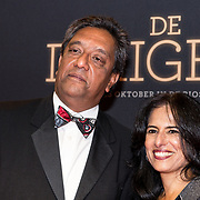 NLD/Amsterdam/20181023 -  Film premiere De Dirigent, Prem Radhakishun en partner Diana Duttenhofer