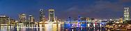 63412-01201 St. Johns River and Jacksonville Florida skyline at twilight Jacksonville, FL