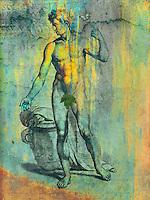 Italian physique sketch by Gerard de Lairesse reinterpreted. Soli Invictio :