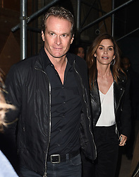 Cindy Crawford & Rande Gerber are seen t the Calvin Klein fashion show in New York<br />