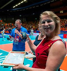 29-05-2019 NED: Volleyball Nations League Netherlands - Bulgaria, Apeldoorn<br /> Paula List