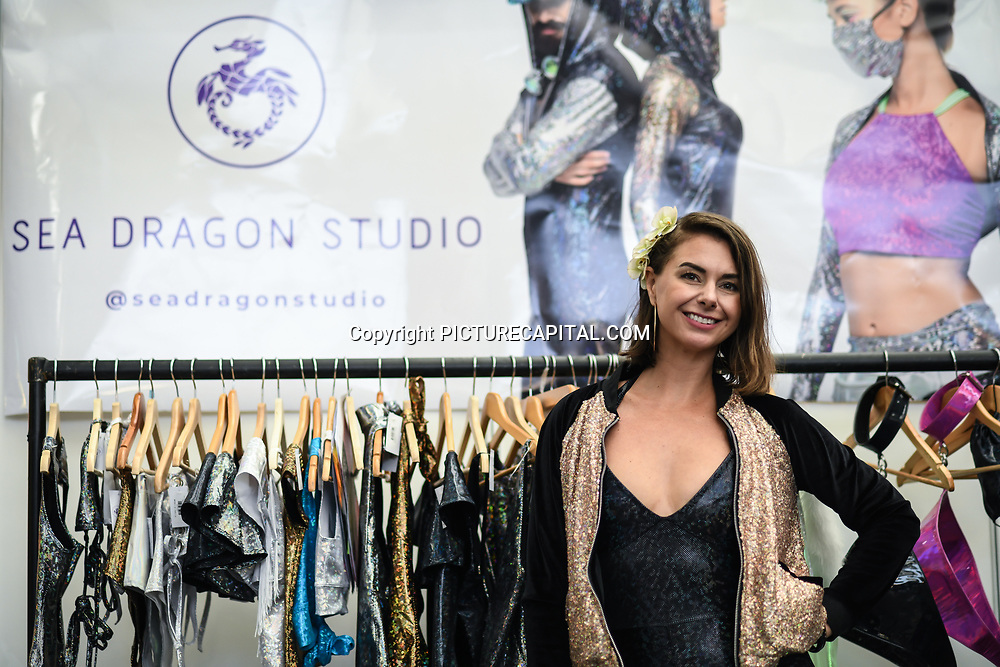 London, UK. 16th February, 2020. Sea Dragon Studio stall at the LondonEdge 2020 | Authentic Lifestyle Fashion Trade Shows and exhibition and Fashion show at Business Design Centre.