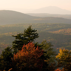 The view northwest from the summit of Silver Mountain in Lempster, New Hampshire.