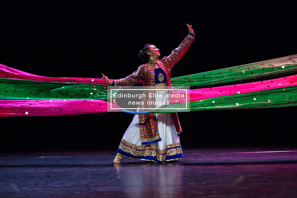 Pictured:   Mela on Your Doorstep event. A snapshot of the annual Glasgow Mela, which takes place next weekend, including music and dance. Tramway, Desi Bravehearts, Bollywood Dance<br /> Karen Gordon  (c) Edinburgh Elite media 10 July 2016