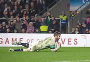 Twickenham, Surrey. UK. Elliot DALY, touches down in the  corner, during the <br /> England VS Australia, Autumn International. Old Mutual Wealth Series. RFU Stadium, Twickenham. UK<br /> <br /> Saturday  18.11.17<br /> <br /> [Mandatory Credit Peter SPURRIER/Intersport Images]