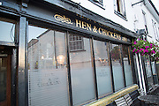 Historic Hen and Chickens pub building, Abergavenny, Monmouthshire, South Wales, UK
