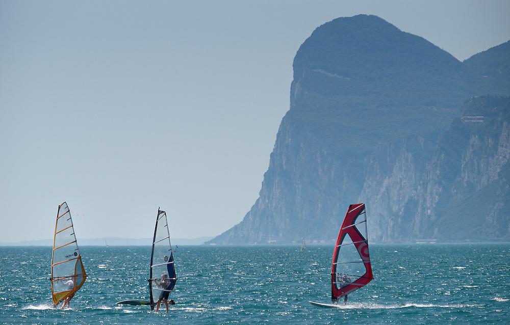 Italy - Garda lake - Windsurfers