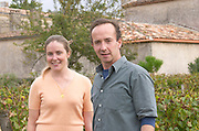 Eloise and Nicolas Heeter-Tari. Owner. Chateau Nairac, Barsac, Sauternes, Bordeaux, France