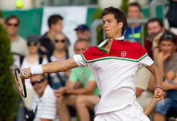 Aljaz Bedene of Slovenia plays in singles semifinal during day six of the ATP Challenger Tour BMW Ljubljana Open 2011, on September 24, 2011, in TC Ljubljana Siska, Slovenia. (Photo by Vid Ponikvar / Sportida)