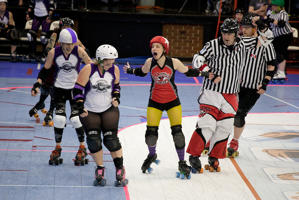 The Charlotte Roller Girls. Professional flat-track roller derby in the Queen City.