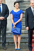 Koning Willem-Alexander en kroonprinses Victoria van Zweden zijn bij de viering van het 20-jarig jubileum van de inwerkingtreding van het Verdrag Chemische Wapens (CWC) en de oprichting van de Organisatie voor het Verbod van Chemische Wapens (OPCW). De ceremonie vond plaats in de Ridderzaal in Den Haag. <br /> <br /> King Willem-Alexander and Crown Princess Victoria of Sweden are celebrating the 20th anniversary of the entry into force of the Chemical Weapons Convention (CWC) and the establishment of the Organization for the Prohibition of Chemical Weapons (OPCW). The ceremony took place in the Ridderzaal in The Hague.<br /> <br /> Op de foto / On the photo:  kroonprinses Victoria van Zweden  ///  Crown Princess Victoria of Sweden