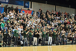 14 March 2014:   Titan fans during an NCAA mens division 3 quarter final basketball game between the Calvin Knights and the Illinois Wesleyan Titans in Shirk Center, Bloomington IL