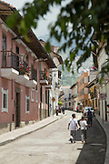 Colonial street, Quito, Ecuador, South America