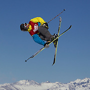 Charles Gagnier, Canada,  in action in the Slopestyle Finals during The North Face Freeski Open at Snow Park, Wanaka, New Zealand, 2nd September 2011. Photo Tim Clayton...