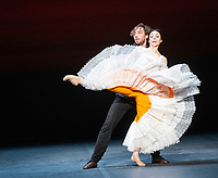 Maia Makhateli and James Stout at the rehearsal for the BALLET ICONS GALA 2020  evening of world class ballet celebrating the Russian Ballet School photo by Brian Jordan
