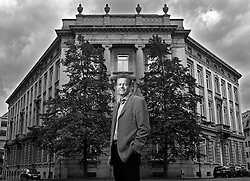 BRUSSELS, BELGIUM - AUGUST-27-2007 - Frank Vanhecke,  President of the Vlaams Belang, the extreme right political party in the Flemish region of Belgium, and a Member of the European Parliament, in front of the Flemish Parliament building in Brussels. (PHOTO © JOCK FISTICK)