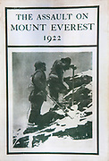 The Assault on Mount Everest 1922, by Brigadier General Hon C G Bruce, Edward Arnold & Co London, 1923