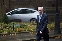 © licensed to London News Pictures. London, UK 25/10/2012. European Council president Herman van Rompuy walking to Number 10 on Downing Street to meet with David Cameron on 25/10/12. Photo credit: Tolga Akmen/LNP
