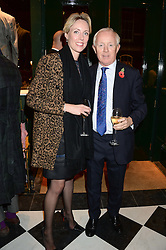 SIMON BREWER and REBECCA BREWER at the Kent and Curwen London Flagship Launch, Saville Row, London on 6th November 2013.