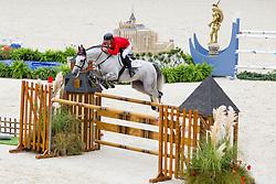 Ondrej Zvara, (CZE), Cento Lano - Team & Individual Competition Jumping Speed - Alltech FEI World Equestrian Games™ 2014 - Normandy, France.<br /> © Hippo Foto Team - Leanjo De Koster<br /> 02-09-14