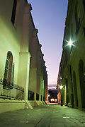 Night views of St. Louis Cathedral along Jackson Square, New Orleans, Louisiana, United States