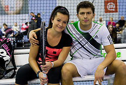 Nastja Kolar and Tomislav Ternar at Tennis exhibition day and Slovenian Tennis personality of the year 2013 annual awards presented by Slovene Tennis Association TZS, on December 21, 2013 in BTC City, TC Millenium, Ljubljana, Slovenia.  Photo by Vid Ponikvar / Sportida