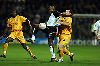 BARRY HAYLES FULHAM/ DAVID UNSWORTH EVERTON<br /> FULHAM V EVERTON 04/02/04 F/A CUP 4TH ROUND REPLAY 04/02/04<br /> PHOTO ROBIN PARKER FOTOSPORTS INTERNATIONAL