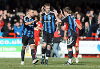 Football - FA Cup R 5  - Crawley Town vs. Stoke City <br /> Jon Walters (Stoke) Goalscorer celebrates with Glenn Whelan and Ryan Shawcross