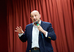 Rainbow Hamlets Mayor of Tower Hamlets Hustings in Bethnal Green, London, Great Britain <br /> 1st June 2015 <br /> <br /> <br /> John Foster <br /> Green Party <br /> <br /> <br /> <br /> <br /> Photograph by Elliott Franks <br /> Image licensed to Elliott Franks Photography Services