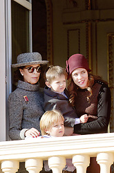 November 19, 2017 - Monte Carlo, MONACO - 19-11-2017 Monaco Princess Caroline of Hanover and Charlotte Casiraghi and Raphael and Sacha during the Monaco National Day Celebrations in Monaco...© PPE/NieboerCredit: PPE/face to face.- No rights for the Netherlands  (Credit Image: © face to face via ZUMA Press)