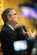 Former Florida Governor and potential Republican presidential candidate Jeb Bush speaking to supporters at an early morning GOP breakfast event March 18, 2015 in Myrtle Beach, South Carolina.