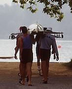.Barcelona Olympic Games 1992.Olympic Regatta - Lake Banyoles.ROM M8+.       {Mandatory Credit: © Peter Spurrier/Intersport Images]..........       {Mandatory Credit: © Peter Spurrier/Intersport Images]..........       {Mandatory Credit: © Peter Spurrier/Intersport Images].........