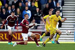 Charlie Colkett of Bristol Rovers goes past Matthew Taylor of Northampton Town - Mandatory by-line: Robbie Stephenson/JMP - 01/10/2016 - FOOTBALL - Sixfields Stadium - Northampton, England - Northampton Town v Bristol Rovers - Sky Bet League One