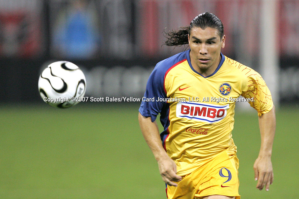 29 July 2007: Club America's Salvador Cabanas. DC United of Major League Soccer defeated Club America of the Mexican Futbal League 1-0 in a Group B match of the 2007 Superliga tournament at RFK Stadium in Washington, DC.