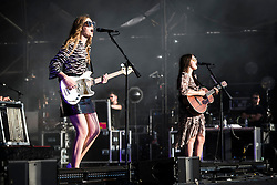 Johanna and Klara Soderberg from First Aid Kit perform live at Bestival 2018 Lulworth Castle - Wareham. Picture date: Saturday 4th August 2018. Photo credit should read: David Jensen/EMPICS Entertainment