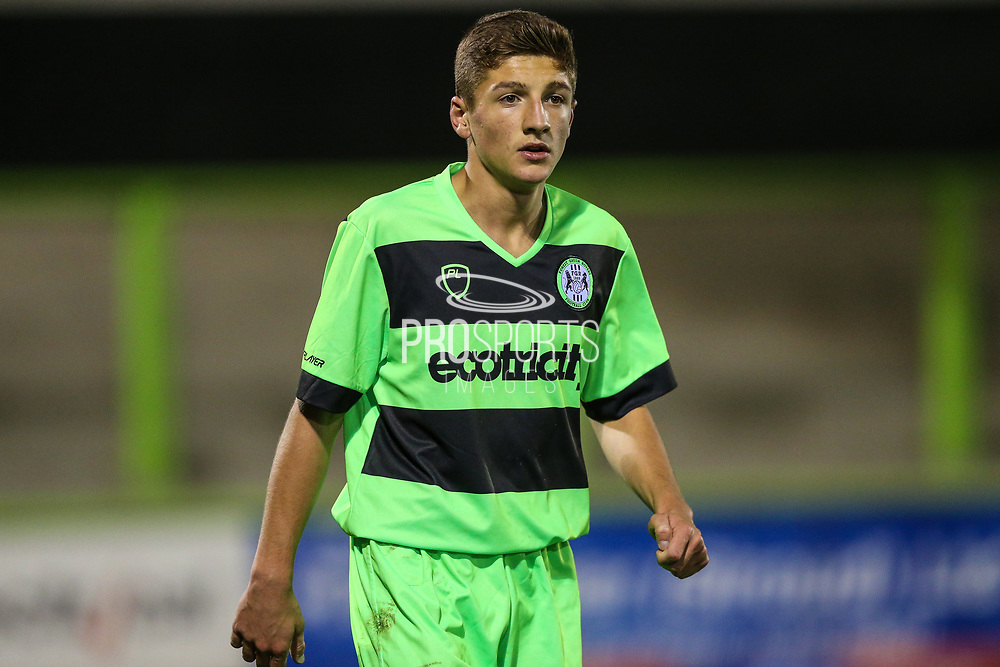 Forest Green Rovers Will Turner(5) during the FA Youth Cup match between U18 Forest Green Rovers and U18 Cheltenham Town at the New Lawn, Forest Green, United Kingdom on 29 October 2018.