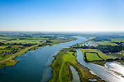 Nederland, Utrecht, Everdingen, 30-09-2015;  Everdinger Waarden, uiterwaarden van de Lek. Waterberging en natuurgebied in ontwikkeling.<br /> Floodplains of the river Lek. Water storage and natural development.<br /> luchtfoto (toeslag op standaard tarieven);<br /> aerial photo (additional fee required); copyright foto/photo Siebe Swart.