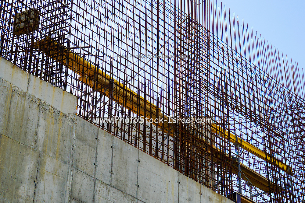 Construction concept Reinforced concrete foundations Photographed in Moscow, Russia
