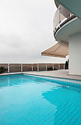 beautiful new apartment building, outdoor, pool view